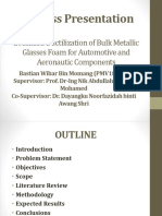 Localized Ductilization of Bulk Metallic Glasses Foam for Automotive and Aeronautic Components
