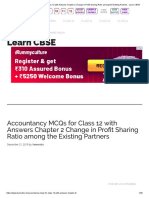 Accountancy MCQs for Class 12 with Answers Chapter 2 Change in Profit Sharing Ratio among the Existing Partners - Learn CBSE