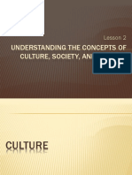 UCSP - Lesson 2 - Understanding the concepts of culture, society, politics.pptx
