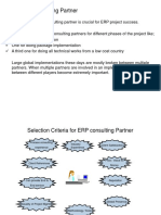 - Selecting ERP Consulting Partner-