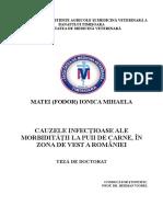 CAUZELE INFECŢIOASE ALE MORBIDITĂŢII LA PUII DE CARNE, ÎN ZONA DE VEST A ROMÂNIEI