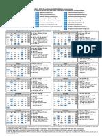 Calendario Estadisticas Coyunturales MITRAMISS 2019