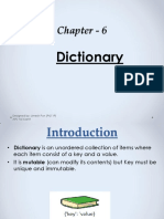Chapter - 6 Dictionary