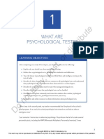 What are Psychological Tests?