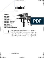 Metabo SBE 660 SBE 750 Manual