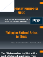 CONTEMPORARY PHILIPPINE MUSIC