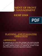 Front Office Management HOSP (1050)
