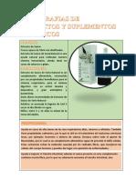 MONOGRAFIAS DE PRODUCTOS Y SUPLEMENTOS DIETÉTICOS