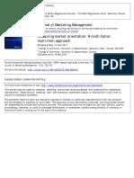 Measuring market orientation A multi‐factor, multi‐item approach