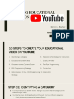 Creating educational videos on youtube