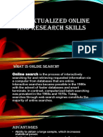 Contextualized online  and research skills