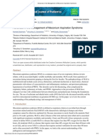 Advances in the Management of Meconium Aspiration Syndrome