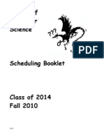 Scheduling Booklet