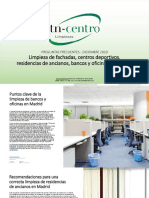 Limpieza de fachadas, centros deportivos, residencias de ancianos, oficinas y bancos en Madrid