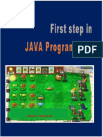 First Step in JAVA Programming