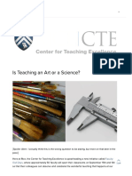 Is Teaching an Art or a Science_ — Rice University Center for Teaching Excellence