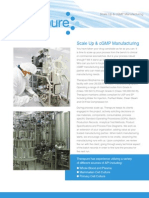 Scale Up & cGMP Manufacturing