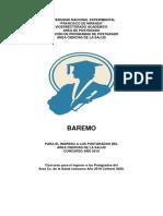 BAREMO CONCURSO UNEFM 2019-2020