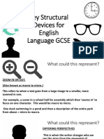 key structural devices for english language gcse
