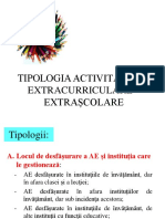 Curs 4_tipologia Activitatilor Extracurriculare