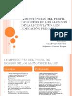 COMPETENCIAS DEL PERFIL DE EGRESO DE LOS ALUMNOS DE LA LEP