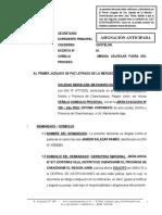 Medida Cautelar Fuera Del Proceso - Soledad Matamarro Huanuqueño