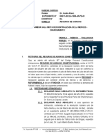 Recurso de Agravio Constitucional 6 - Habeas Corpus Reparador - Fabiola Rebeca Ticllasuca Robles