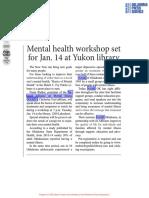 NAMI - Mental Health Workshop
