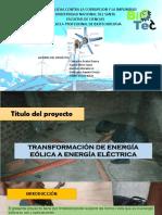 Transformacion de Energía Eólica a Eléctrica