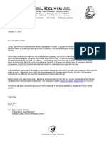 Blaine Ruppenthal Letter