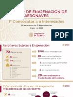 Banobras Enajenación aeronaves, 14ene20