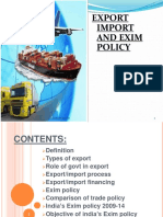 Export Import and EXIM Policy