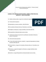 AGENDA 1ER SIMPOSIO INSTITUCIONAL SOBRE LITERATURA DEL BARROCO Y NEOCLASICISMO
