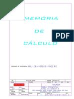 AHL-MC4-01B18-1001-00 PRE ARMAÇÃO LINHA DE VIDA