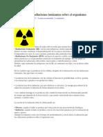 Efectos de las radiaciones ionizantes sobre el organismo
