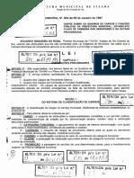 Lei 003 Plano de Carreira Servidores