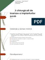 Cursul 7 - Timpii chirurgicali de  inserare a implanturilor surub - 2017 studenti