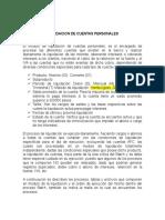 LIQUIDACION DE CUENTAS PERSONALES