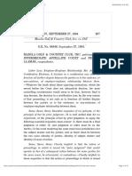 2. Manila Golf & Country Club, Inc. vs. IAC, 237 SCRA 207