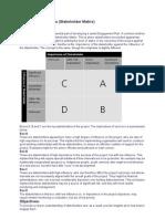Stakeholder Analysis (Stakeholder Matrix)
