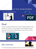the struggles of  low income students