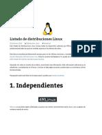 Lista de distros Linux