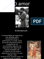 Krishnamurti ) Amor