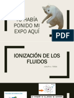 IONIZACIÓN DE LOS FLUÍDOS