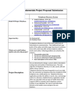 Programming Fundamentals Project Proposal Submission Form
