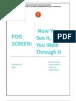 Fogscreen Seminar Report