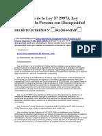 Reglamento de la Ley Nº 29973, Ley General de la Persona con Discapacidad
