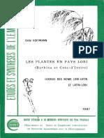 Les plantes en pays lobi (Burkina et Côte-d'Ivoire) - lexique des noms lobi-latin et latin-lobi