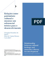 CARVALHO, MELO. Relações entre patrimônio cultural e museus - um referencial teórico para o desenvolvimento