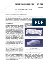 DESIGN AND ANALYSES OF CAR MODEL BY CFD SOFTWARE